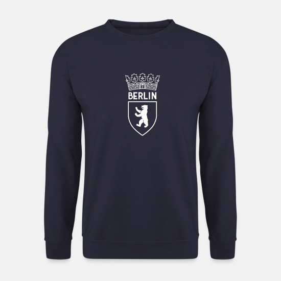 Berlin Sweat-shirts - Armoiries de Berlin Berliner Bär Krone - Sweat-shirt Homme marine