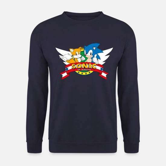 Saturn Pullover & Hoodies - Sonic The Hedgehog Sonic & Tails Logo - Unisex Pullover Navy