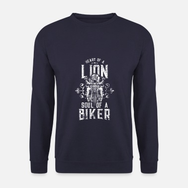 Logo motard coeur lion moto - Sweat-shirt Homme