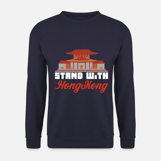 Human Rights Hoodies & Sweatshirts - Stands with HongKong protest democracy censorship - Men's Sweatshirt navy