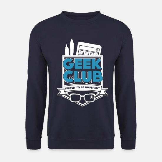 Proud Hoodies & Sweatshirts - Geek Club - Men's Sweatshirt navy