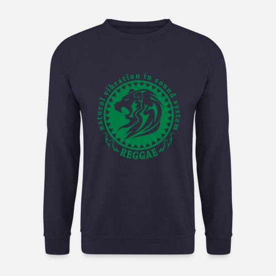 Sound Sweat-shirts - natural vibration in sound system reggae - Sweat-shirt Homme marine