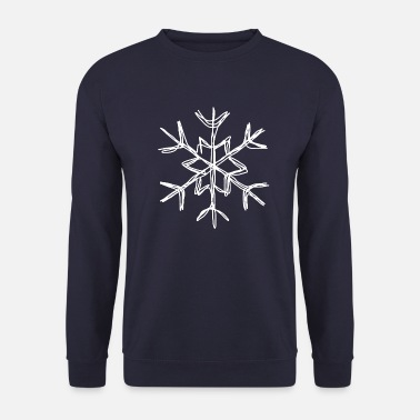 Flake Snowflake snow winter nice cold icy ice - Men's Sweatshirt