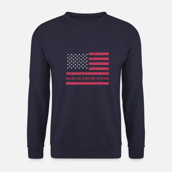 Trump Sweat-shirts - USA Flagge / Made in United States - Sweat-shirt Homme marine