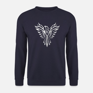 Bird phoenix wing silver - Mannen sweater