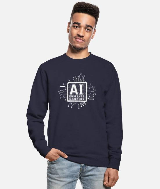 Matrix Hoodies & Sweatshirts - ai enslaves mankind_02 - Unisex Sweatshirt navy