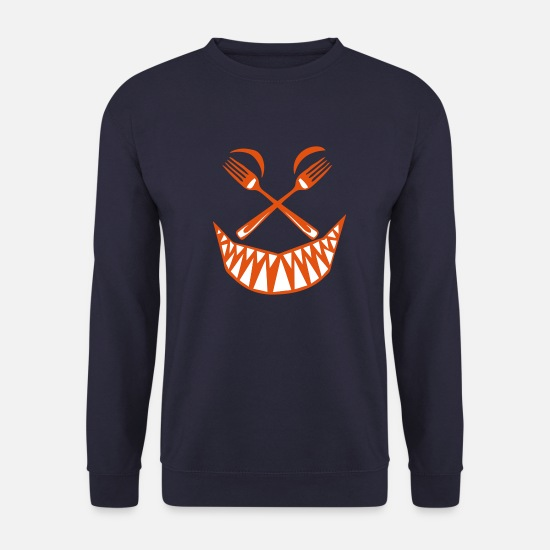 Forks Hoodies & Sweatshirts - kitchen fork fork smiley tooth fero - Unisex Sweatshirt navy