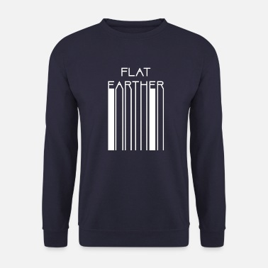 Flat Earthers Flat Earther barcode - Unisex Sweatshirt
