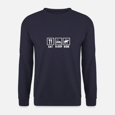 Sadlen Spis Spleep Ride, Spise Sleep Riding. - Sweatshirt mænd
