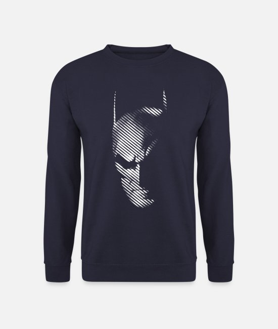 Superhero Tröjor & hoodies - Batman 'Mask black & white' Women T-Shirt - Tröja unisex marinblå