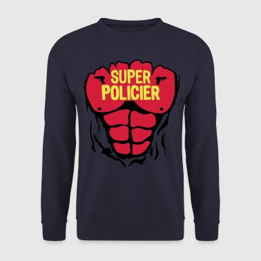 policier super corps muscle bodybuilding - Sweat-shirt Homme