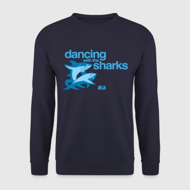 Animal Planet Humour Dancing With The Sharks - Men's Sweatshirt