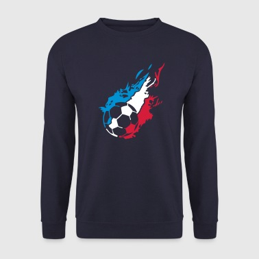 france foot supporter equipe flamme1 - Sweat-shirt Homme