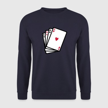 carte jeux poker as carre 902 - Sweat-shirt Homme