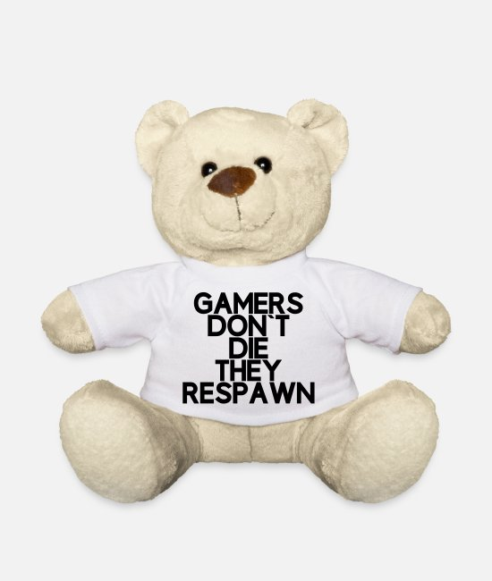Play Teddy Bear Toys - Gamers do not dare they reboot - Teddy Bear white