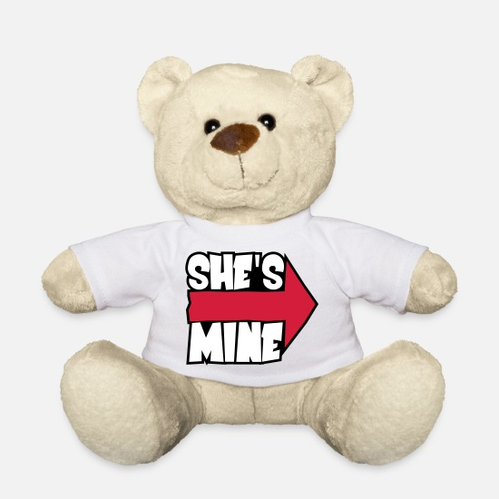 Love Teddy Bear Toys - She's mine - Teddy Bear white