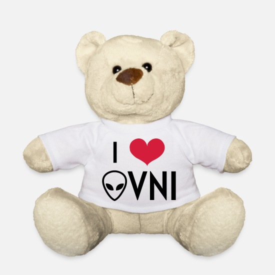 Birthday Teddy Bear Toys - OVNI - UFO - Alien - Espace - Extraterrestre - Teddy Bear white