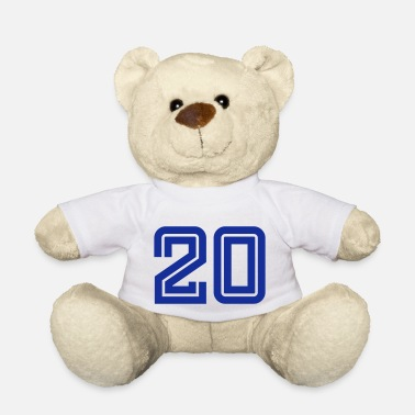 Football Club College Numbers, Nummern, Sports Numbers, 20 - Teddy Bear