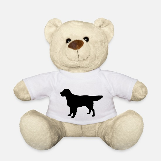 Retriever Knuffeldieren - Flatcoat Retriever Dog - Teddybeer wit
