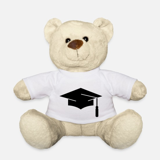 School Teddy Bear Toys - graduation - Teddy Bear white