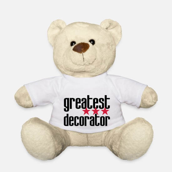 Decoratie Knuffeldieren - ontwerper decorateur versierd architect decoratie - Teddybeer wit