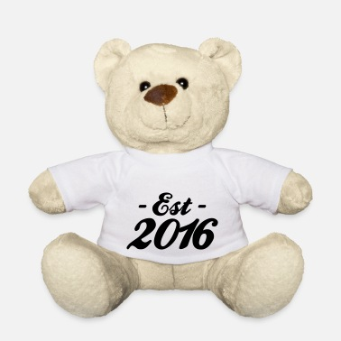 Established established 2016 - Ours en peluche