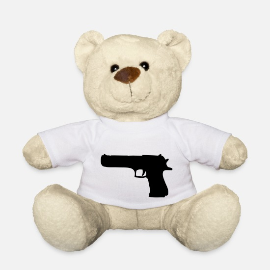 Weapon Teddy Bear Toys - gun - Teddy Bear white