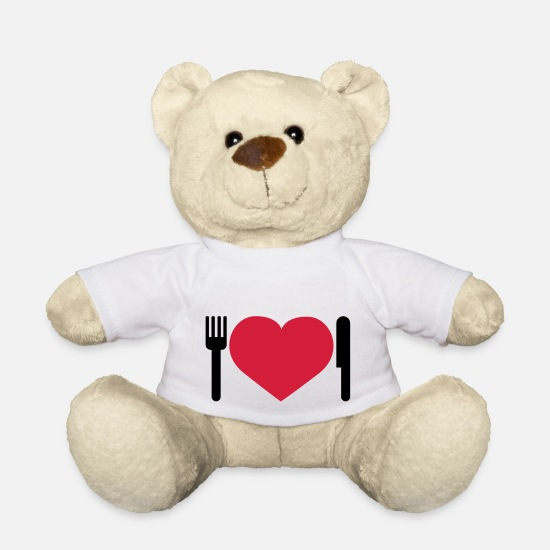 Heart Teddy Bear Toys - Herz Essen | Herz | Heart | Dinner - Teddy Bear white