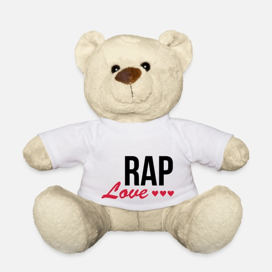 Rap Teddy Bear Toys - Love Rap - Teddy Bear white