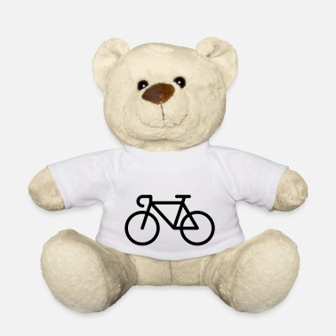 Pictograph Racing Bicycle / Bike (Icon / Pictogram) - Teddy Bear