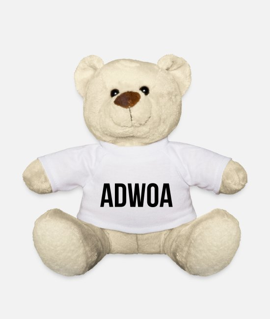 Proud Teddy Bear Toys - Adwoa - Teddy Bear white