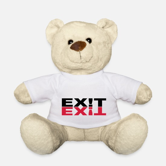 Bass Teddy Bear Toys - ex t-shirt original exit exit - Teddy Bear white