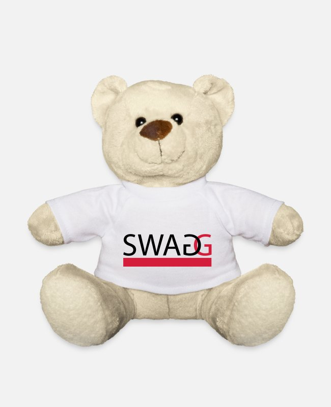 Rap Knuffeldieren - Swagg (In every colour possible) - Teddybeer wit