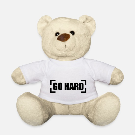 Top Teddy Bear Toys - Go Hard - Teddy Bear white