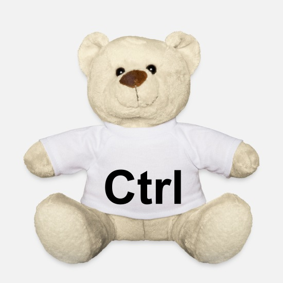 Keyboard Teddy Bear Toys - ctrl - makes great on a pillow case! - Teddy Bear white