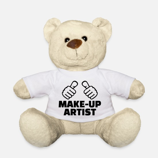Makeup Kuscheltiere - Make-up Artist - Teddybär Weiß