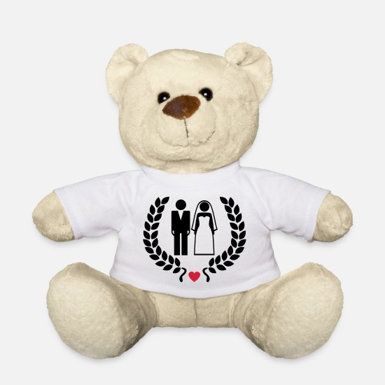 Bride Teddy Bear Toys - Wedding couple - Hochzeitspaar - Teddy Bear white