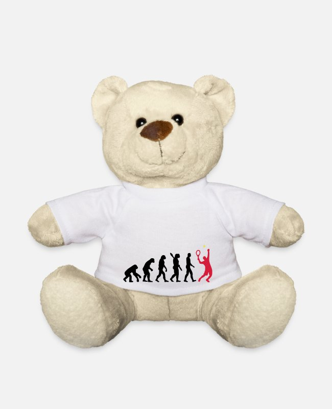 Australian Open Teddy Bear Toys - Tennis evolution - Teddy Bear white