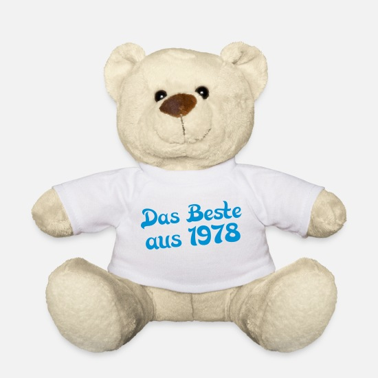 Birthday Teddy Bear Toys - the best of 1978 - Teddy Bear white