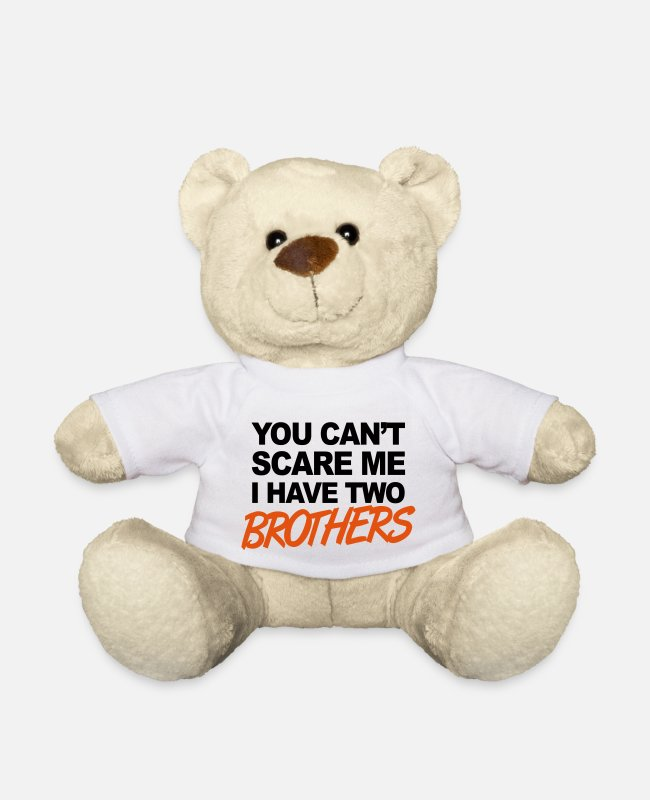 Quote Teddy Bear Toys - Brothers - Teddy Bear white