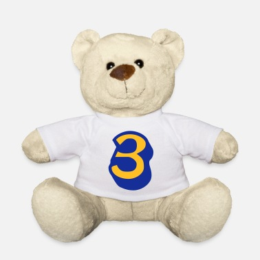 Lucky Number ★Cool Number Three 3-Best Jersey Uniform Number★ - Teddy Bear