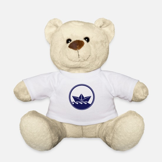 Filigree Teddy Bear Toys - papierboot_001 - Teddy Bear white