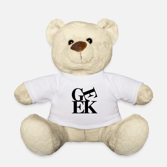 Geek Teddy Bear Toys - Geek - Teddy Bear white