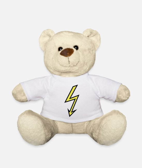 Weather Teddy Bear Toys - Lightning - Teddy Bear white