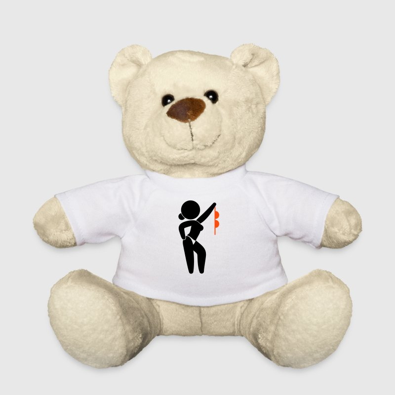 A stripper with bare breasts - Teddy Bear
