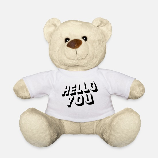 Bestsellers Q4 2018 Peluches - hello you - Ours en peluche blanc