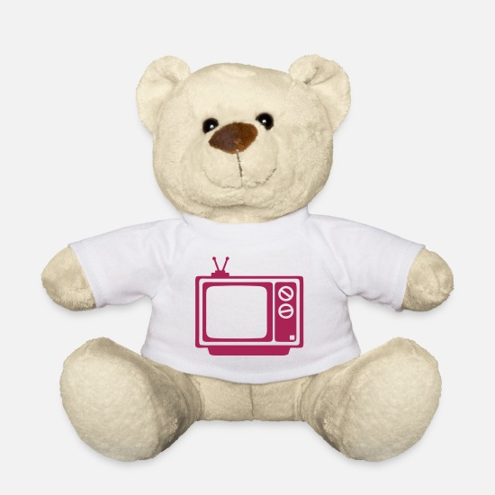 Tv Teddy Bear Toys - tv tv tv - Teddy Bear white