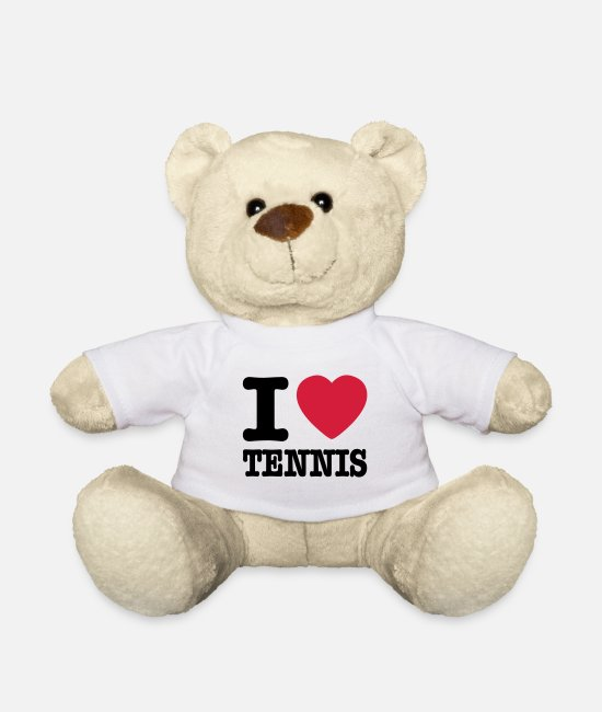 Tennis Knuffeldieren - I love tennis BE NL - Teddybeer wit
