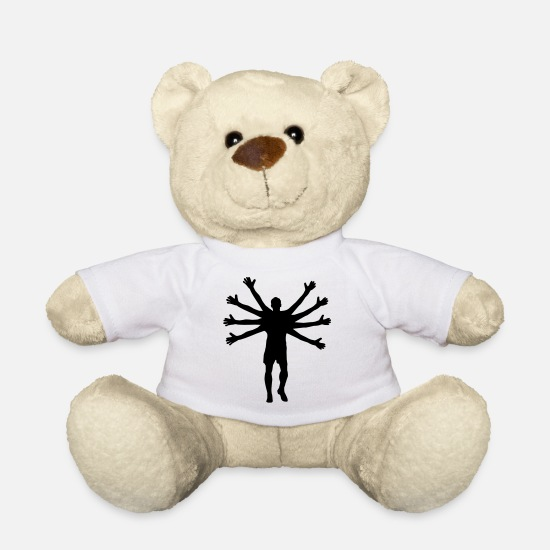 Soccer Teddy Bear Toys - Octopus Goalkeeper - Teddy Bear white