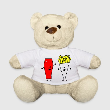 french fries ketchup - Teddy Bear